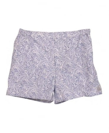Dunhill Blue & White Paisley Pattern Shorts