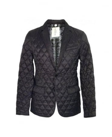 Burberry Black Quilted Blazer Jacket