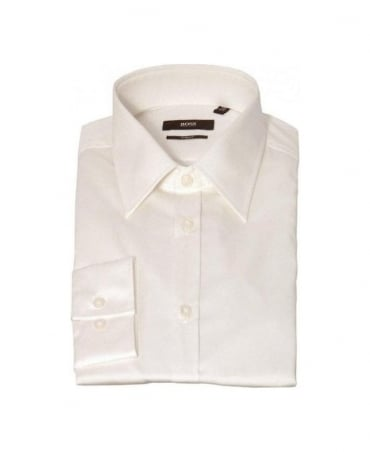 Boss Cream Slim Fit Shirt