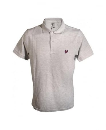 Lyle & Scott Light Grey & Red Logo Polo
