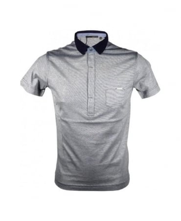 Hamaki-Ho Horizontal Stripe Navy Collar Polo