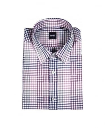 Boss Purple Check Ronny Shirt