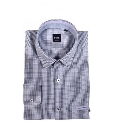 Boss Purple Check Oliver Shirt