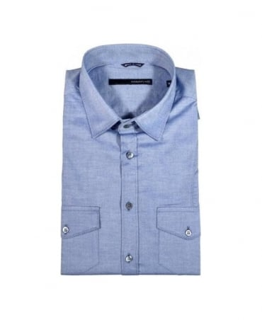 Hamaki-Ho Blue 2 Pocket Shirt