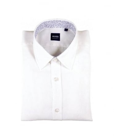 Boss Black Lucas White Regular Fit Shirt
