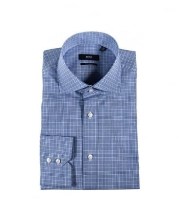 Boss Black Gerald Blue Check Shirt