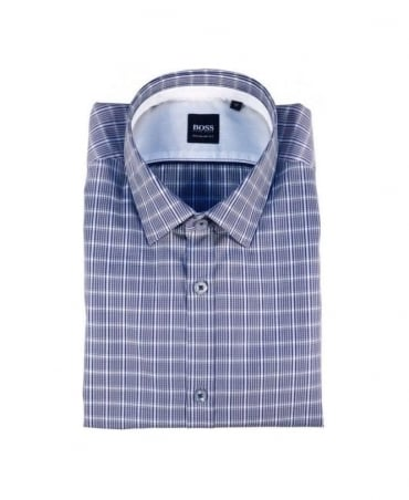 Boss Grey & Navy Check Lorenzo Shirt