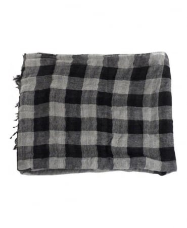 Boss Grey & Black Nordian Scarf
