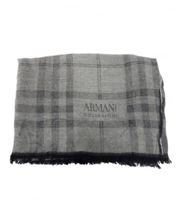 Armani Light Grey Scarf