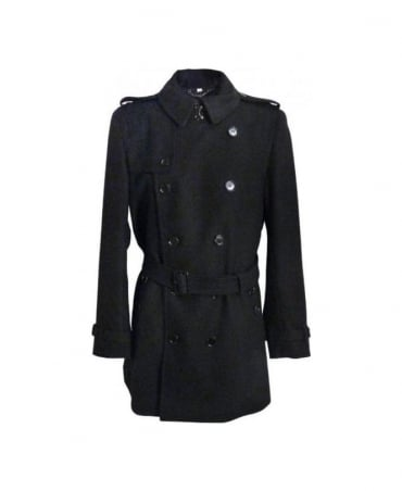 Burberry Black Britton Overcoat