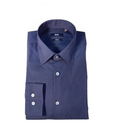 Boss Navy Slim Fit Stretch Shirt