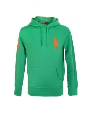 Ralph Lauren Mayan Green Big Polo Player Hooded Fleece