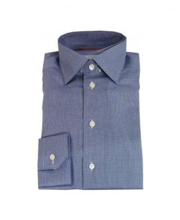 Eton Blue Dog Tooth Shirt