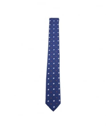 Hamaki-Ho Navy CR127H Narrow Tie