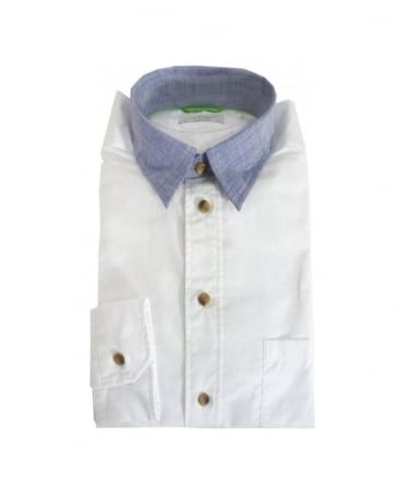 Eton White Green Ribbon Range Shirt