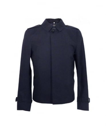 Burberry Navy Beaton Slim Fit Coat