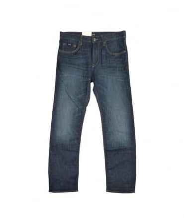 Boss Mid Blue Maine Regular Fit Jean