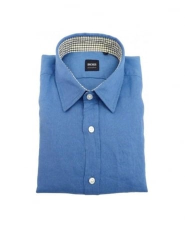 Boss Blue Lucas Linen Shirt