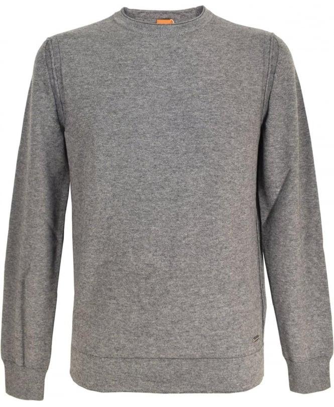 Hugo Boss 'Albinon' Cotton Blend Sweater In Grey
