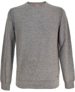 Hugo Boss 'Albinon' Cotton Blend Sweater In Grey