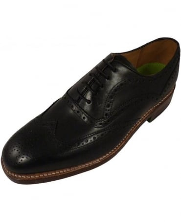 Oliver Sweeney Aldeburgh Black Oxford Brogue Shoe