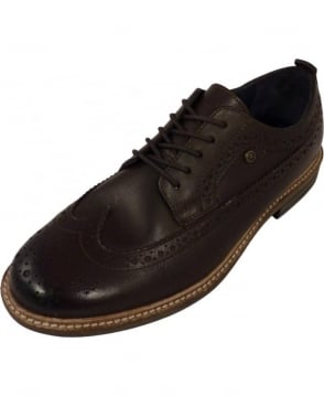 Hackett American Brogues In Brown Leather
