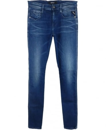 Replay Anbass Slim Fit Jeans In Blue