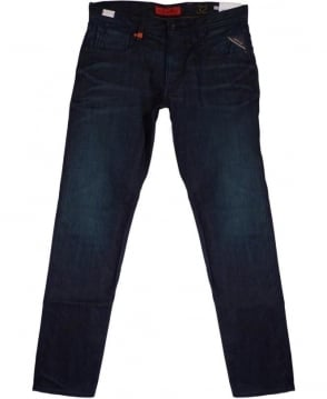 Replay 'Anbass' Slim Fit Jeans In Dark Blue