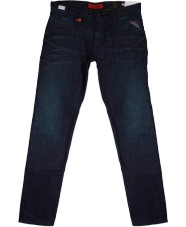 'Anbass' Slim Fit Jeans In Dark Blue