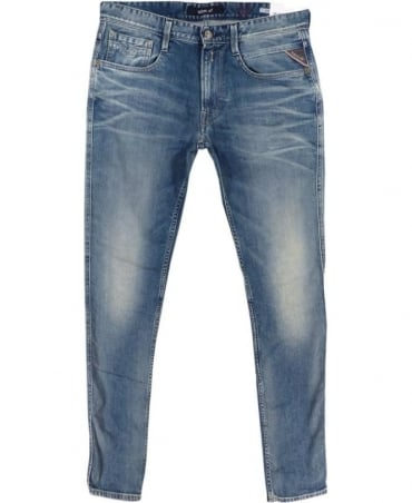 Anbass Slim Fit Jeans In Light Blue