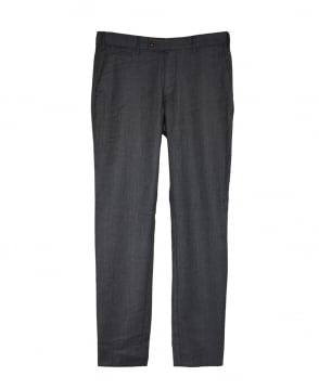 Gant Antracit Melange Slim Fit Flannel Chino