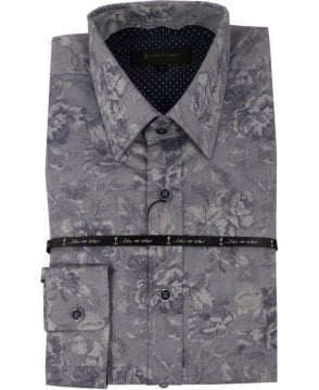 1 ...Like No Other Apparatus Jacquard Shirt In Grey