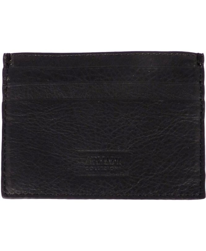 Armani Collezioni Black/Grey Leather Card Holder