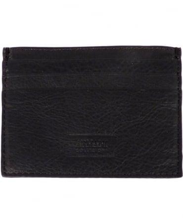 Armani Collezioni Black/Grey Leather Card Holder