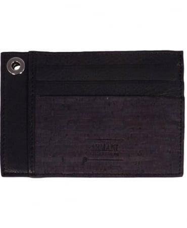 Armani Collezioni Black Leather Card Holder