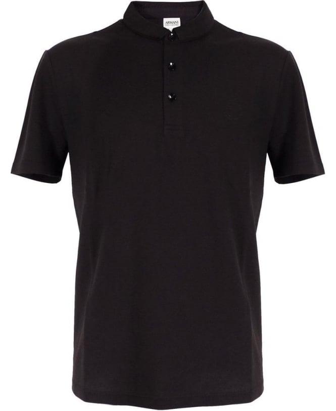 Armani Collezioni Black Polo Shirt