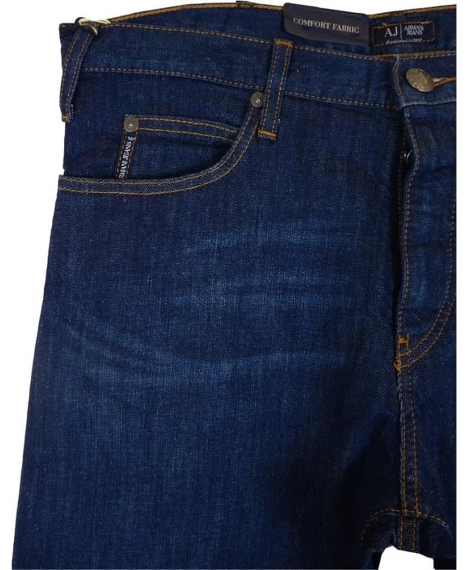 ca0960d9dff1 Armani Jeans J21 Regular Fit Jeans In Dark Blue - Jeans from ...