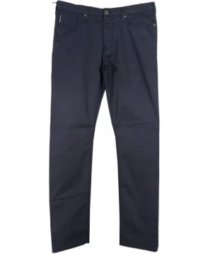 Armani Jeans Dark Blue 'Jo6' Slim Fit Trousers