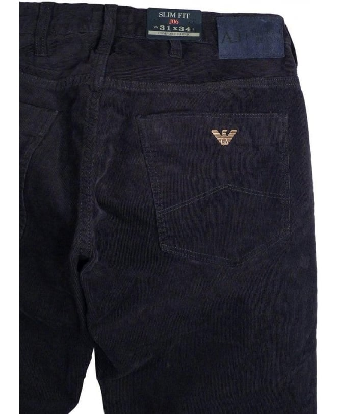 cba2a25ad80f Armani Jeans Navy J06 Slim Fit Fine Cords - Jeans from Jonathan ...