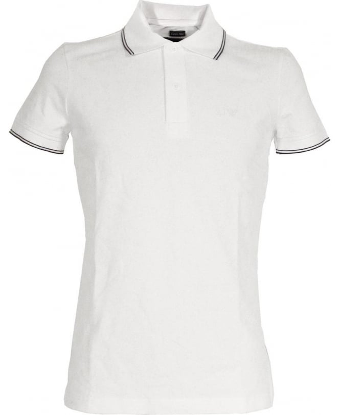 Armani Jeans Polo Shirt In White