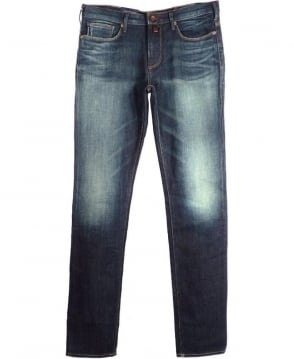 Armani Slim Fit J06 Vintage Wash Jeans