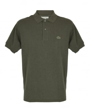 Lacoste Army Green Marl Classic Fit L1264 Polo