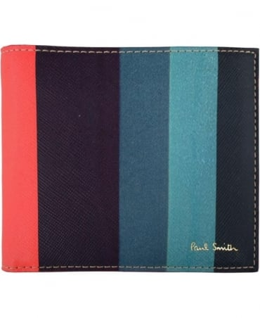 Paul Smith  'Artist Stripe' Print ASXC-4832-W785 Wallet