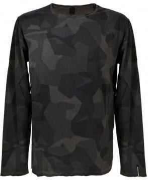 Replay Asphalt Print Long Sleeve T/Shirt