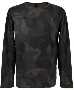 Replay Asphalt Print Long Sleeve T/Shirt