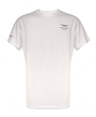 Hackett Aston Martin Racing Logo T-shirt In White