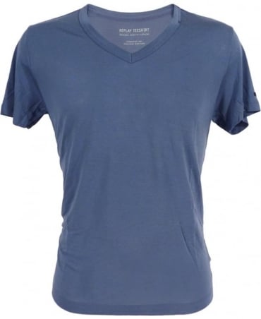 Replay Bamboo Fibre T-shirt In Blue