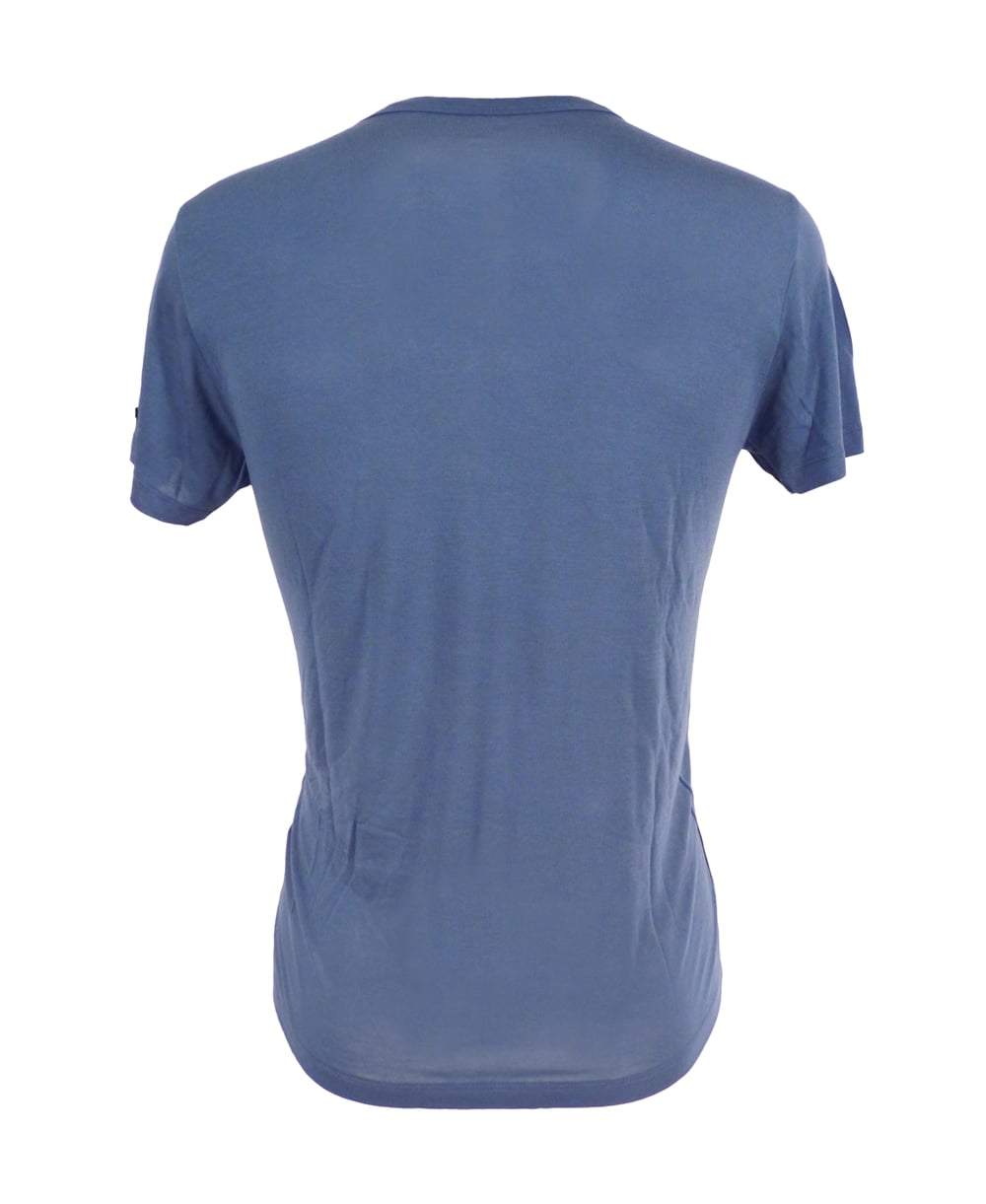 Replay Bamboo Fibre T Shirt In Blue Replay From Jonathan