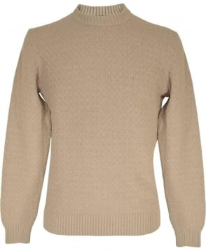 Hackett Barley HM701763 Textured Stitch Crew Neck Jumper