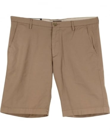 Hugo Boss Beige 50309191 Rice3-D Stretch Slim Fit Shorts